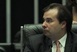 O presidente da Câmara dos Deputados, Rodrigo Maia (DEM-RJ), durante sessão plenária Foto: Jorge William / Agência O Globo/23-05-2017