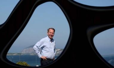 """""""O Brasil é um país único"""", diz o executivo Michael Ellis Foto: Custódio Coimbra / Agência O Globo"""