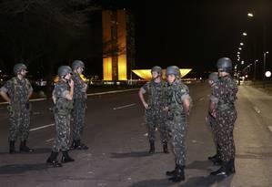 Segurança em Brasília terá 1.500 militares do Exército e da Marinha Foto: Michel Filho / Agência O Globo