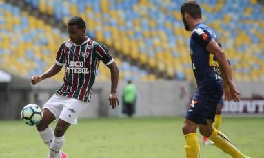 Wendel, do Fluminense, na partida contra o Santos, no Maracanã, pelo Campeonato Brasileiro Foto: Fluminense/ / Divulgação