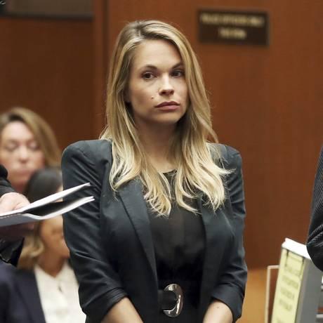 Dani Mathers comparece a seu julgamento em Los Angeles, onde foi condenada a três anos de liberdade condicional Foto: Frederick M. Brown / AP