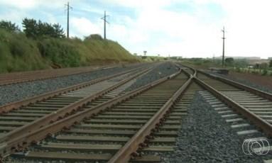 Trilhos da Ferrovia Norte-Sul em Anápolis Foto: Reprodução/TV Anhanguera)