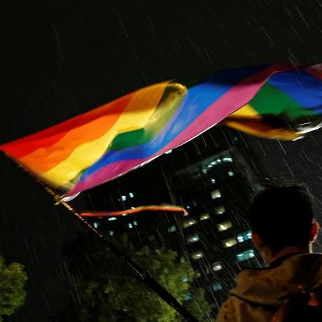 Sentença foi dada na mesma semana em que dois homens gays foram punidos com chibatadas na Indonésia e que a Justiça de Taiwan se posicionou a favor do casamento homossexual Foto: TYRONE SIU / REUTERS