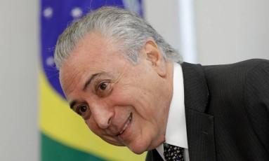 Temer, nesta quinta-feira em Brasília: popularidade em baixa Foto: UESLEI MARCELINO / Reuters