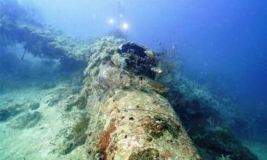 Bombardeiro B-25 foi derrubado em combates com japoneses durante a Segunda Guerra Mundial Foto: PROJECT RECOVER