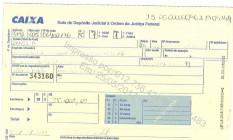 Depósito judicial de R$ 35 mil feito pelo deputado afastado Rodrigo Rocha Loures Foto: Reprodução