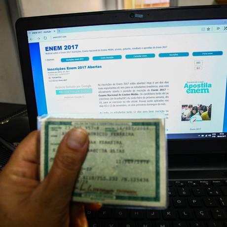 Período de inscrição do Enem 2017 terminou dia 19 de maio, e as provas estão marcadas para novembro Foto: Parceiro / Agência O Globo