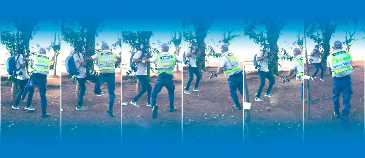 Resultado de imagem para agressao a reportes da globo por policial brasilia