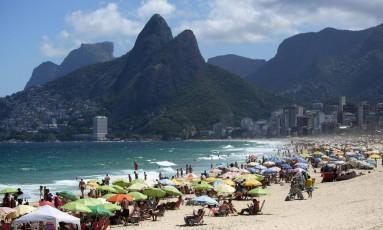 Ipanema, no Rio de Janeiro Foto: Thiago Freitas / Agência O Globo