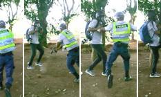 Fotógrafo do GLOBO André Coelho é agredido por policial militar durante manifestação em Brasília Foto: Montagem sobre fotos de Joedson Alves, da agência EFE Leia mais: https://oglobo.globo.com/brasil/secretario-de-seguranca-do-df-afirma-que-agressao-fotografo-do-globo-sera-investigada-21394340#ixzz4i8F9cQCo stest