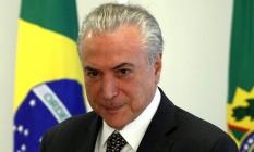 O presidente Michel Temer, durante encontro coma Câmara Brasileira da Indústria da Construção e grupo de empresários (CBIC) Foto: Givaldo Barbosa / Agência O Globo