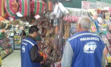 Produtos típicos de festa junina foram alvo de fiscalização do Ipem Foto: Divulgação