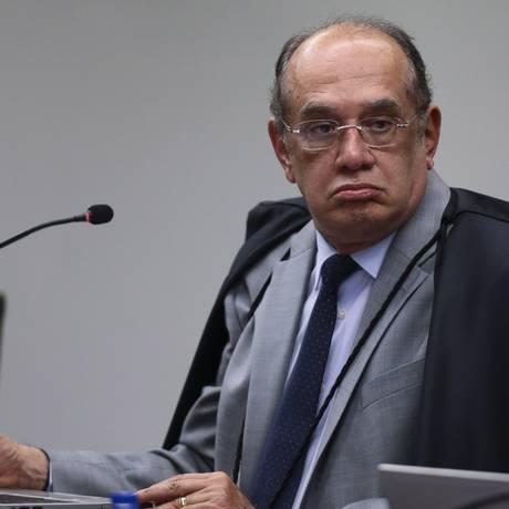 O ministro Gilmar Mendes, durante sessão do Supremo Tribunal Federal Foto: Jorge William / Agência O Globo/23-05-2017