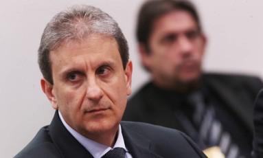 O doleiro Alberto Youssef em depoimento para a CPI dos Fundos de Pensão, em outubro de 2015 (Brasília) Foto: Jorge William/Agência O Globo