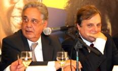 Fernando Henrique Cardoso e o senador Tasso Jereissati, em 2007 Foto: Givaldo Barbosa / O Globo
