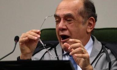 o ministro Gilmar Mendes (STF) preside audiência pública no STF sobre banco nacional de DNA forense./Agência O Globo Foto: Jorge William/O Globo