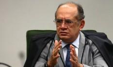 Gilmar Mendes defende que homologação de delação da JBS seja levada a plenário Foto: Jorge William / Agência O Globo
