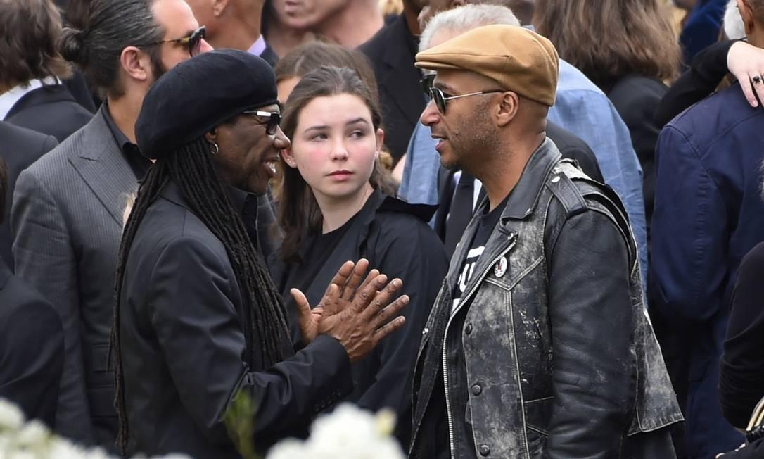 Nile Rodgers conversou com Tom Morello, companheiro de Cornell na banda Audioslave Foto: Chris Pizzello / AP