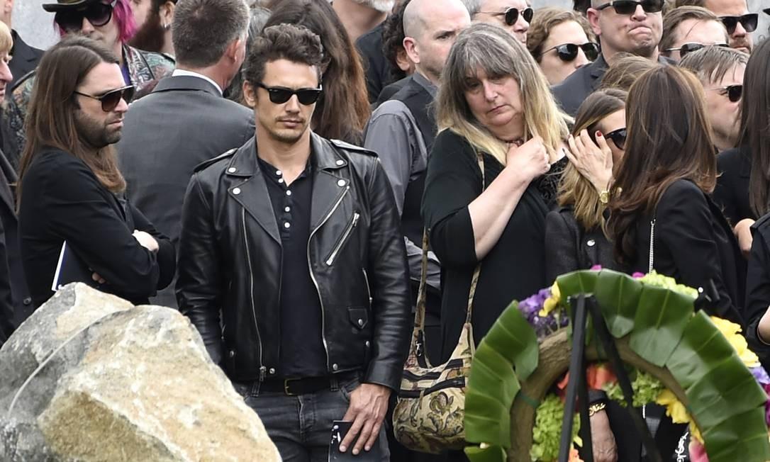James Franco foi outro ator de Hollywood presente no funeral de Chris Cornell Foto: Chris Pizzello / AP