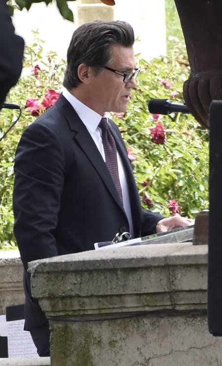 Josh Brolin discursou na cerimônia Foto: Chris Pizzello / AP