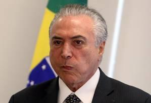 O presidente Michel Temer Foto: Givaldo Barbosa / Agência O Globo 25/05/2017