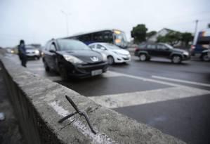 BR-101, na altura da Avenida do Contorno, sentido Niterói. Foto: Thiago Freitas / Agência O Globo