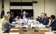 O ministro da Fazenda, Henrique Meirelles participa de reunião no ministério da Fazenda