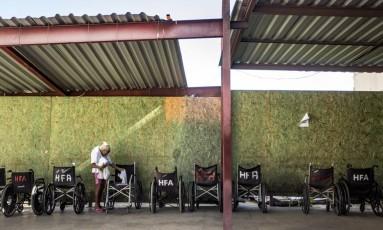 Situação no Hospital do Andaraí é de abandono Foto: Ana Branco