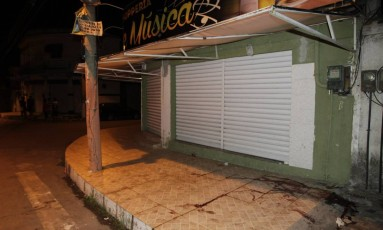 Bar onde Gu foi morto Foto: Pedro Teixeira / Agência O Globo