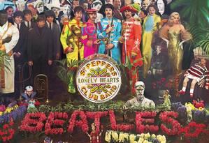 SC - Sargent Pepper's, Beatles Foto: Parte da capa do disco 'Sargent Pepper's Lonely Hearts Club Band', dos Beatles / Reprodução