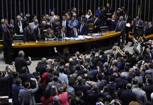 Plenário da Câmara dos Deputados Foto: LUCIO BERNARDO JR / Agência O Globo