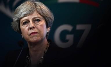 A primeira-ministra britânica, Theresa May, pode não conseguir o resultado que almejava Foto: JUSTIN TALLIS / AFP