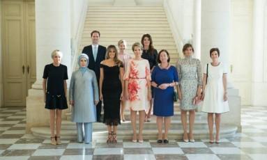 Casa Branca não incluiu nome do marido do primeiro-ministro de Luxemburgo na legenda da foto oficial Foto: Andrea Hanks / Official White House Photo