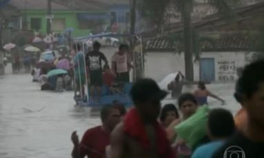 Chuva provoca a morte de seis pessoas e deixa milhares de desabrigados em Alagos (foto) e em Pernambuco Foto: Reprodução
