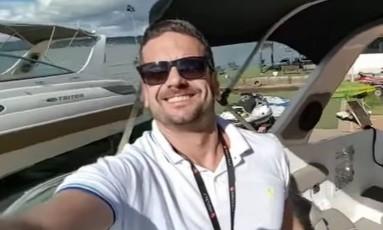 Stefenson Scafutto gravou vídeo em encontro de lanchas antes de sofrer parada cardíaca Foto: Reprodução/Facebook