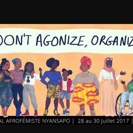 Cartaz do Festival Nyansapo, programado para o fim de julho na capital francesa Foto: Reprodução