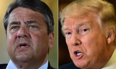 O vice-chanceler alemão, Sigmar Gabriel, afirmou que as ações do presidente americano, Donald Trump, enfraqueceram o Ocidente Foto: AFP