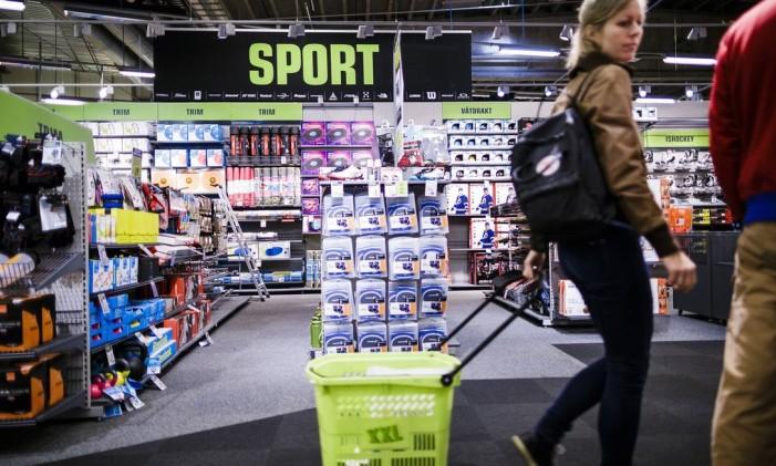 Loja de esportes em Oslo Foto: Krister Soerboe / Bloomberg