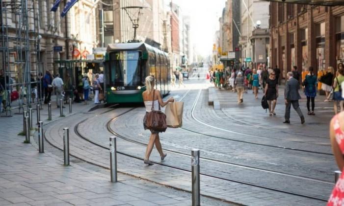 Região de comércio de Helsinque Foto: Tomi Setala / Bloomberg News