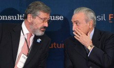 O presidente Michel Temer e o novo ministro da Justiça Torquato Jardim Foto: André Coelho / Agência O Globo 28-11-2016