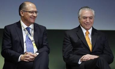 O presidente da República Michel Temer e o governador de São Paulo Geraldo Alckmin Foto: Edilson Dantas / O Globo