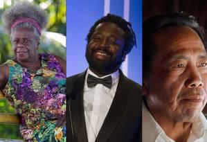 Da direita para a esquerda: Conceição Evaristo, Marlon James e Álvaro Tukano Foto: Divulgação / Agência O GLOBO
