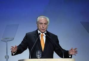 O presidente Michel Temer Foto: Edilson Dantas / Agência O Globo 30/05/2017