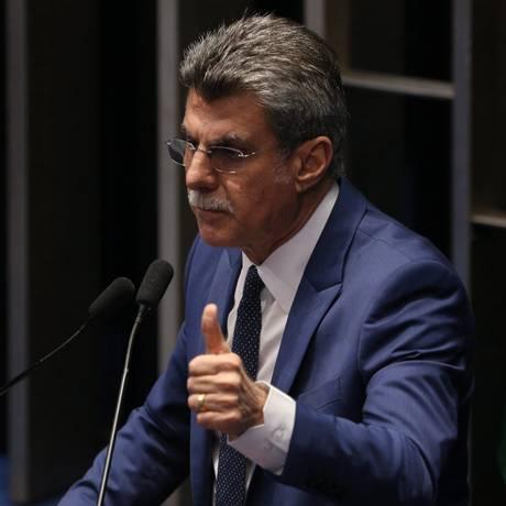 O senador Romero Jucá, líder do governo Foto: ANDRE COELHO / Agência O Globo