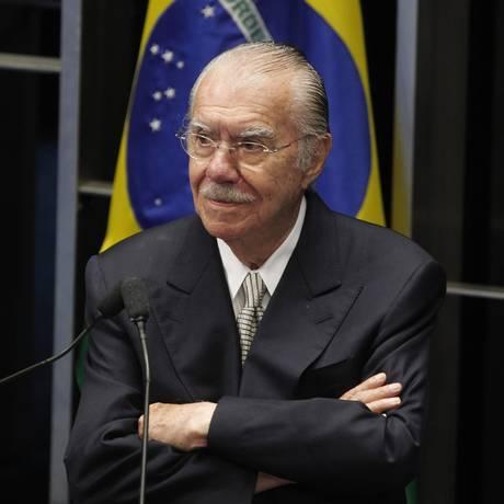 O ex-senador José Sarney Foto: Givaldo Barbosa / Agência O Globo 18/12/2014