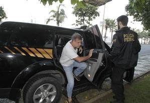 Empresário Marco Antônio de Luca é preso pela PF em Ipanema Foto: Pedro Teixeira / O Globo