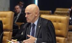O ministro Alexandre de Moraes durante sessão do STF Foto: Carlos Moura / STF / Divulgação
