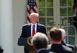 Trump anuncia retirada dos EUA do tratado climático internacional Foto: Kevin Lamarque/Reuters