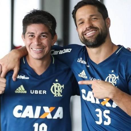 Conca e Diego Foto: Divulgação Flamengo