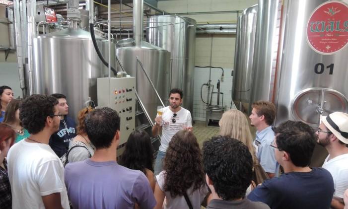Visita à cervejaria Wäls, em Belo Horizonte Foto: Eduardo Maia / O Globo